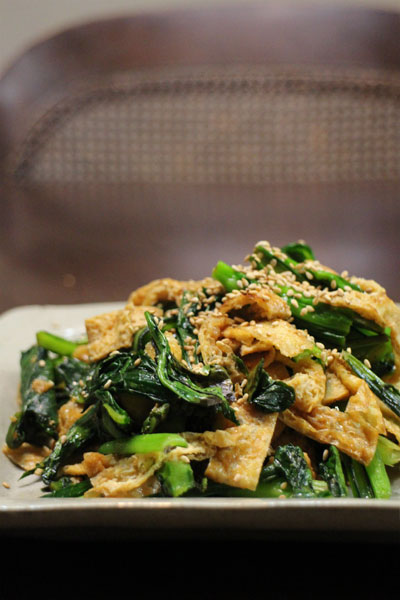 reipe_小松菜の炒め物