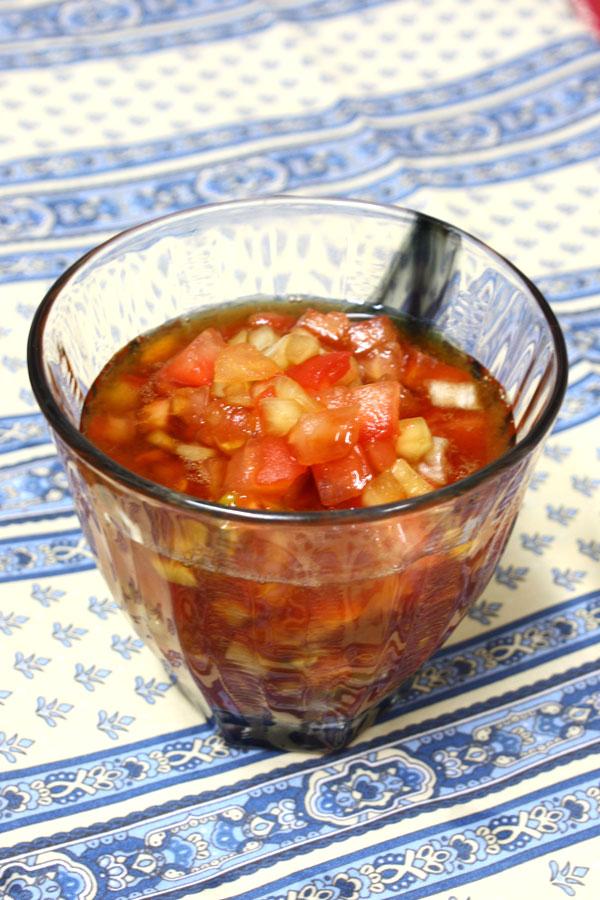 トマトと玉ねぎソースの鶏カラ